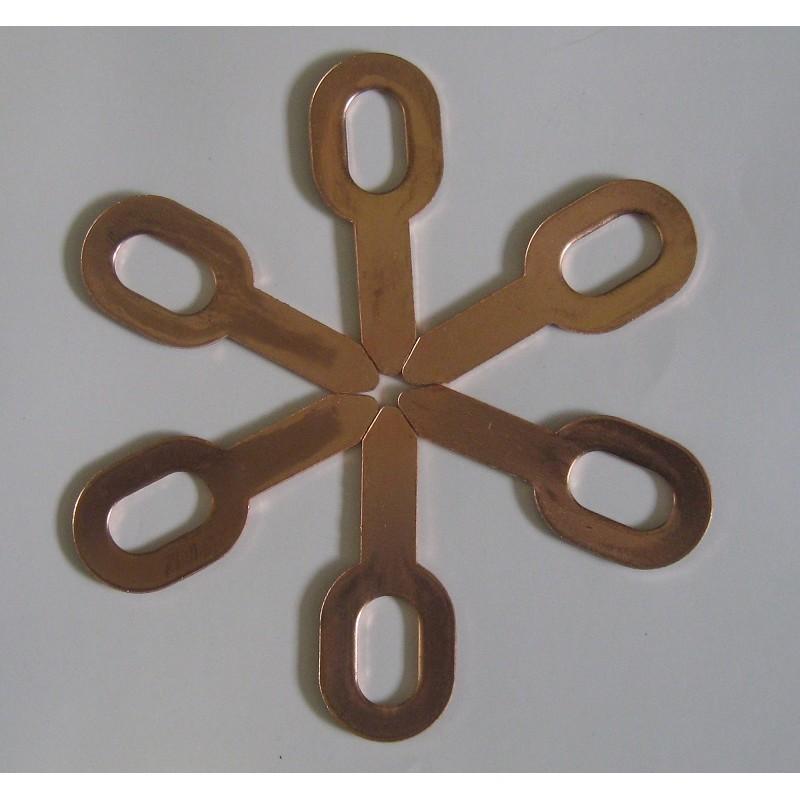Шайба овальная омедненная прямая ОТ-0М