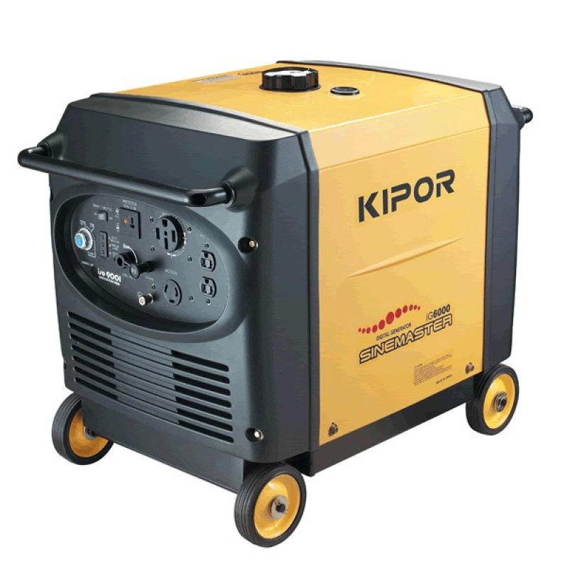Инверторный бесшумный бензогенератор KIPOR IG6000
