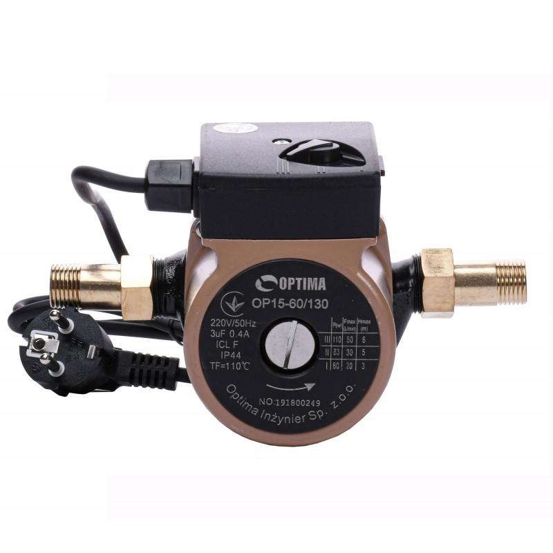 Насос циркуляционный Optima OP15-60 130мм + гайки, + кабель с вилкой!